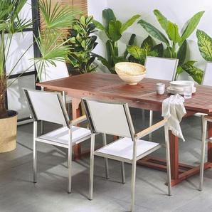 Gartentisch Holz 160/220 x 90 cm rechteckig ausziehbar TOSCANA