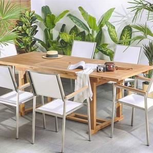 Gartentisch Holz 160/220 X 90 Cm Ausziehbar JAVA