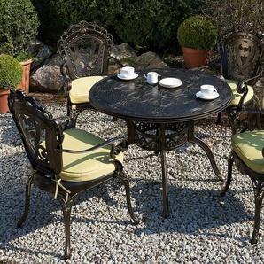 Gartentisch dunkelbraun Aluminium Ø100 cm SAPRI