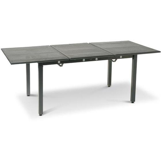 Gartentisch mit Auszug, Anthrazit, Stahl