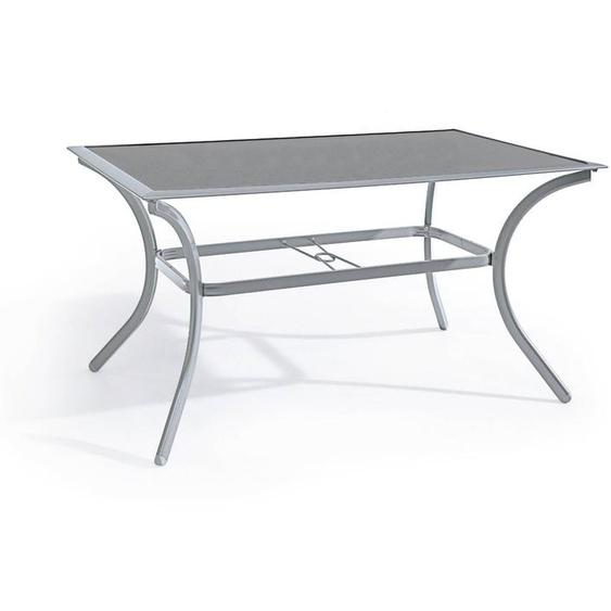 Gartentisch, Silber, Aluminium 150 x 90 cm