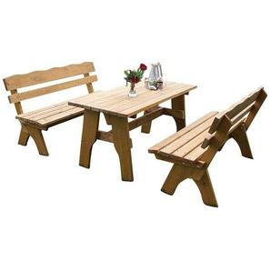 Gartentischgruppe aus Kiefer massiv mit B�nken (3-teilig)