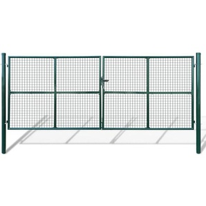 Gartentor Zauntor Gitterzaun Tor 415 x 200 cm / 400 x 150 cm - VIDAXL