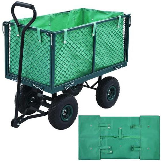 Gartenwagen-Plane Grün Stoff