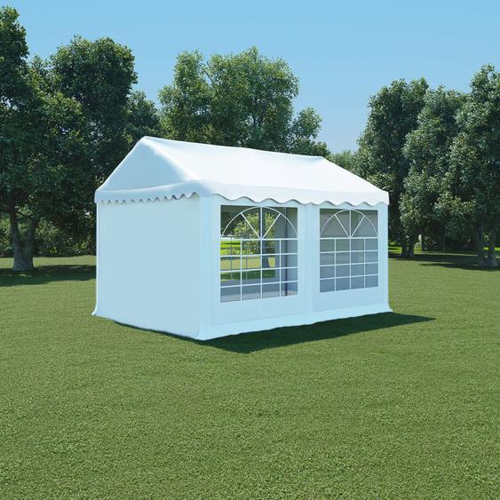 Gartenzelt PVC 3x4 m Weiß