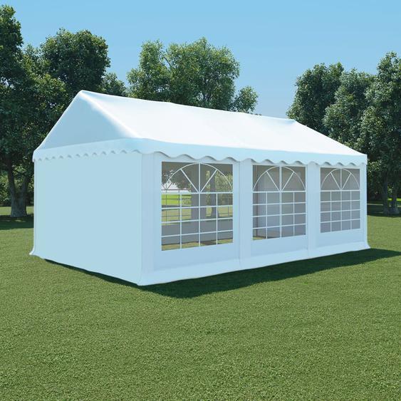 Gartenzelt PVC 4x6 m Weiß