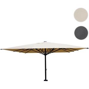 Gastronomie-Luxus-Sonnenschirm HWC-D20, XXL-Schirm Marktschirm, 5x5m (7,2m) Polyester/Alu 75kg ~ creme