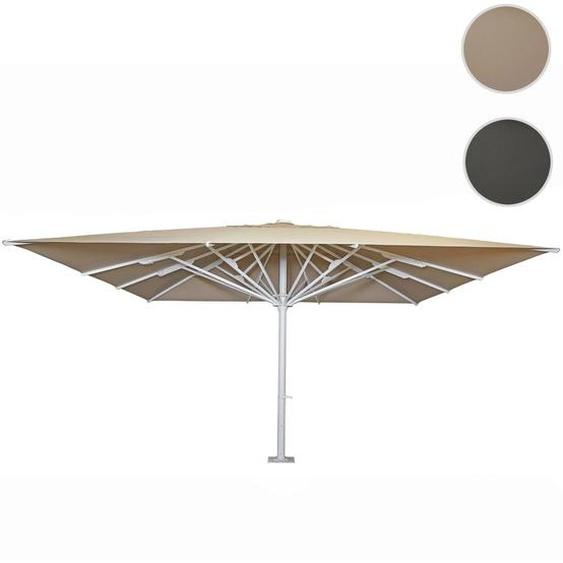Gastronomie-Luxus-Sonnenschirm HWC-D20b, XXL-Schirm Marktschirm, 5x5m (�7,2m) Polyester/Alu 75kg ~ beige