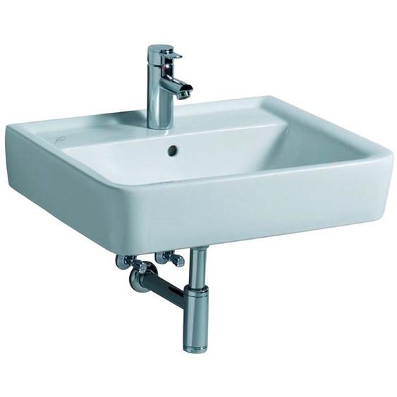 GEBERIT Waschbecken »Renova Nr. 1 Plan«, mit Hahnloch, mit Überlauf, weiß, KeraTect