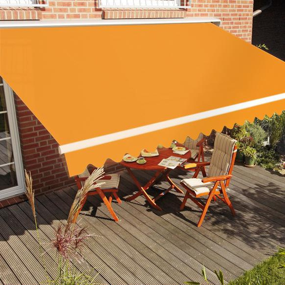 Gelenkarmmarkise  Breite/Ausfall: 350x250 cm »STAR«, Breite 350 cm, Spettmann, orange, Material Federn, oval