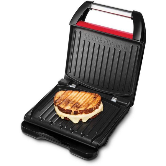 George Foreman Kontaktgrill Steel Compact Fitnessgrill rot 25030-56, 12000 W