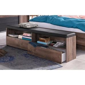 Gepolsterte Schlafzimmerbank Virgo aus Holz mit Stauraum