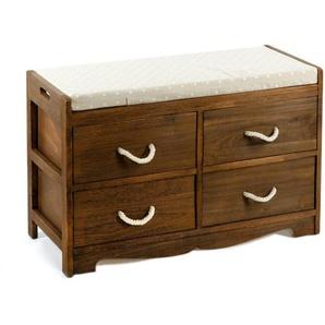 Gepolsterte Sitzbank Little Deer Isle aus Holz mit Stauraum