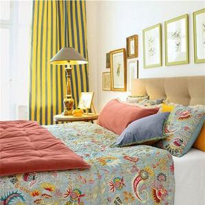 Gepolsteter Samtbettschal peach - bunt - 100 % Baumwolle, Füllung 100 % Poleyster - Tagesdecken & Quilts - Überwürfe & Sofaüberwürfe
