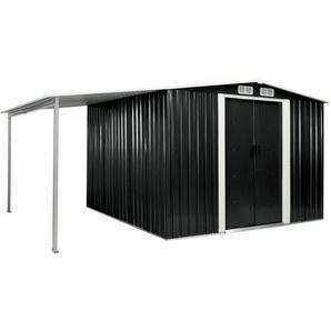 Gerätehaus mit Schiebetüren Anthrazit 386×259×178 cm Stahl - VIDAXL