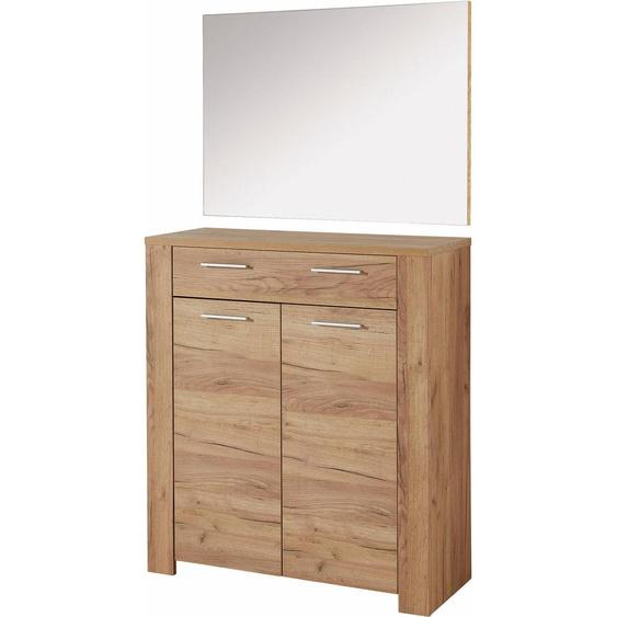 GERMANIA Garderoben-Set GW-Castera, (Set, 2 tlg.) Einheitsgröße beige Kompaktgarderoben Garderoben