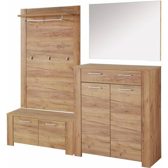 GERMANIA Garderoben-Set GW-Castera, (Set, 4 tlg.) Einheitsgröße beige Kompaktgarderoben Garderoben