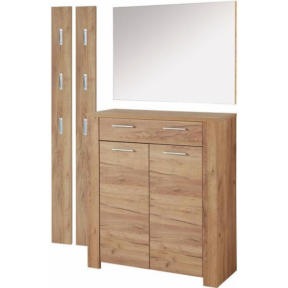 GERMANIA Garderoben-Set GW-Castera (Set, 4-tlg) Einheitsgröße beige Kompaktgarderoben Garderoben Kastenmöbel-Sets