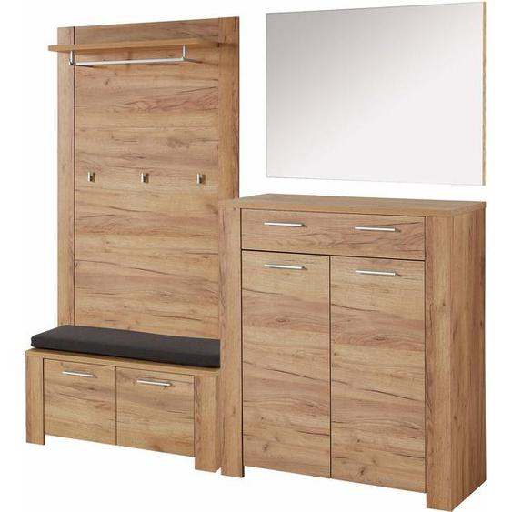 GERMANIA Garderoben-Set GW-Castera, (Set, 5 tlg.) Einheitsgröße beige Kompaktgarderoben Garderoben