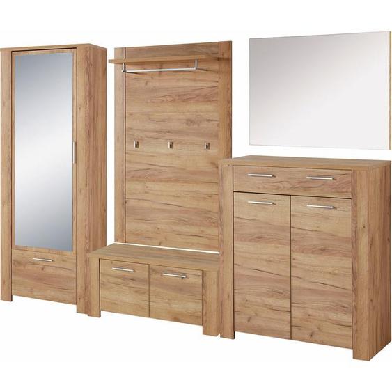 GERMANIA Garderoben-Set GW-Castera (Set, 5-tlg) Einheitsgröße beige Kompaktgarderoben Garderoben Kastenmöbel-Sets