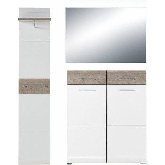 GERMANIA Garderoben-Set »GW-Malou«, 3er Set, weiß, Soft-Close-Funktion