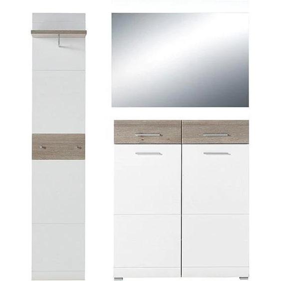 GERMANIA Garderoben-Set GW-Malou, (Set, 3 tlg.) Einheitsgröße weiß Kompaktgarderoben Garderoben