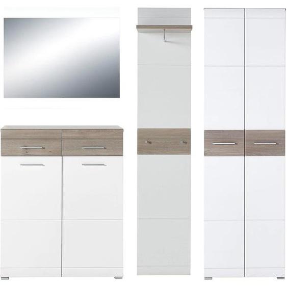 GERMANIA Garderoben-Set GW-Malou (Set, 4-tlg) Einheitsgröße weiß Kompaktgarderoben Garderoben Kastenmöbel-Sets