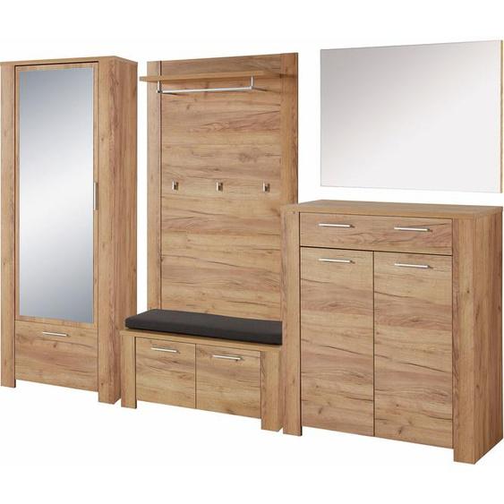 GERMANIA Garderoben-Set (Set, 6-tlg) Einheitsgröße beige Kompaktgarderoben Garderoben Kastenmöbel-Sets