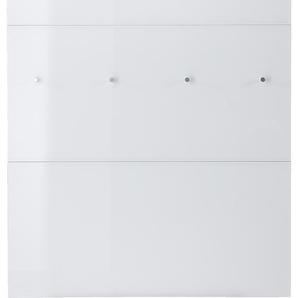 Germania Garderobenpaneel, Weiß / Weißglas, Glas
