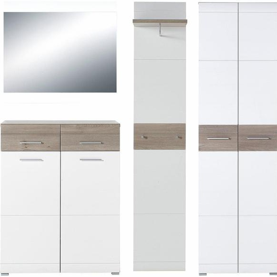 Garderobenset »GW-Malou«, 4er Set, GERMANIA, Material Metall, Holzwerkstoff, MDF, rund, Soft-Close-Funktion