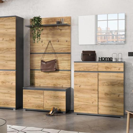Germania Schuhschrank »Lissabon« - braun - Holz -