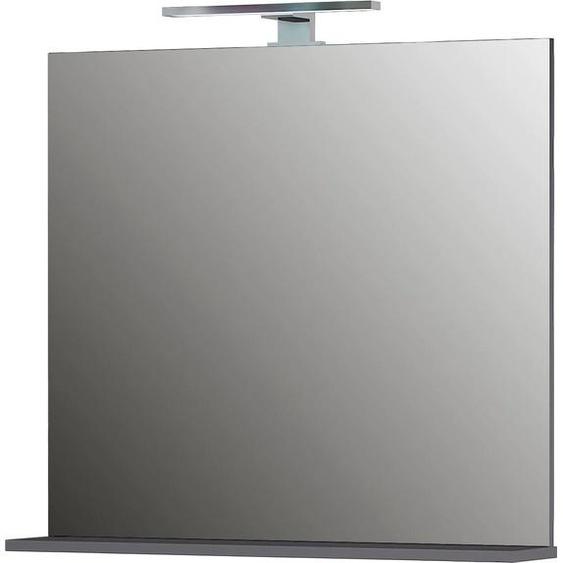 GERMANIA Wandspiegel Pescara (B/H/T): 76/75/15 cm grau Spiegel Wohnaccessoires