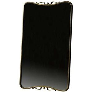 Geschwungener Garderoben Spiegel in Messingfarben Vintage Design
