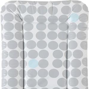Geuther Wickelauflage Wickelmulde Lilly, graue Punkte, Made in Europe B/L: 52 cm x 75 grau Baby Wickelauflagen Babymöbel Baby-, Kinder- Jugendzimmer