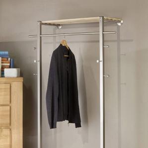 GGG MÖBEL Garderobenpaneel CHANTAL, aus Metall Einheitsgröße grau Garderobenpaneele Garderoben