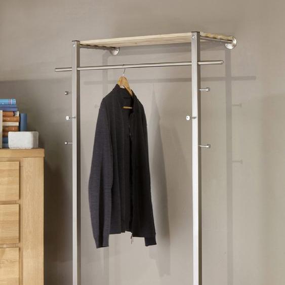 GGG MÖBEL Garderobenpaneel CHANTAL Einheitsgröße grau Kompaktgarderoben Garderoben Garderobenpaneele
