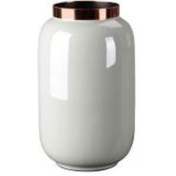 Gift Company Saigon Vase S, hellgrau/kupferfarben 14x14x20cm
