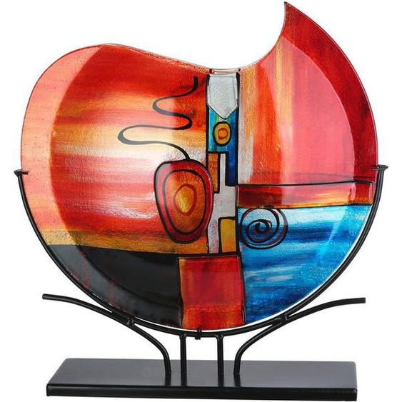 GILDE GLAS art Dekovase »New Life«, handbemalt mit Fusingglas-Elementen