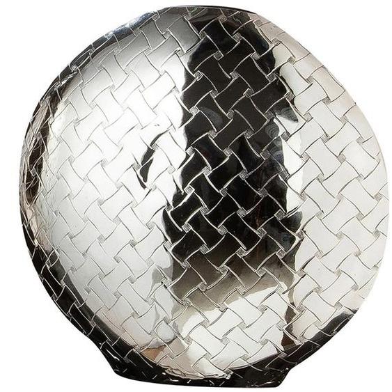 GILDE Dekovase »Treccia« (1 Stück), aus Aluminium, mit Flechtmuster