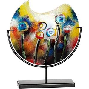 GILDE GLAS art Dekovase Fresh Flowers, handbemalt mit Fusingglas-Elementen B/H/T: 45 cm x 48 11 bunt Blumenvasen Pflanzgefäße Wohnaccessoires