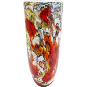 GILDE GLAS art Dekovase Macula 2 B/H/T: 17 cm x 40,5 bunt Blumenvasen Pflanzgefäße Wohnaccessoires