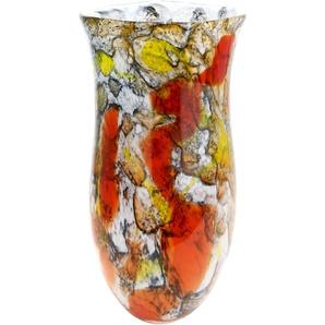 GILDE GLAS art Dekovase Macula B/H/T: 22 cm x 45 bunt Blumenvasen Pflanzgefäße Wohnaccessoires