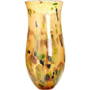 GILDE GLAS art Dekovase Primavera 1 H: 45 cm Ø 22 bunt Blumenvasen Pflanzgefäße Wohnaccessoires