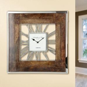 GILDE Wanduhr Uhr London B/H/T: 60,0 cm x 60 5,5 braun Wanduhren Uhren Wohnaccessoires