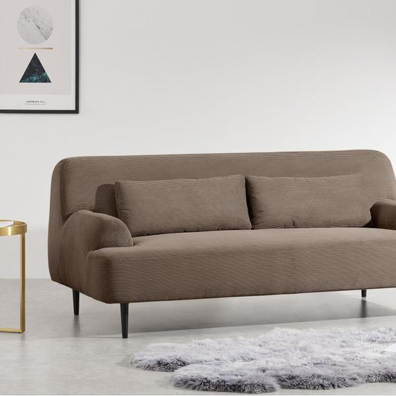 Giselle 2-Sitzer Sofa, Kordsamt in Taupe