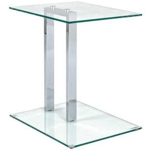 Glas Ablagetisch aus Sicherheitsglas Stahl