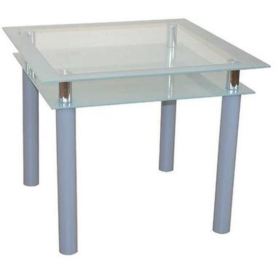Glas Küchentisch aus Sicherheitsglas Stahl