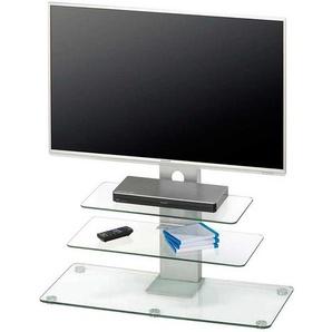 Glas TV Rack mit blauer Beleuchtung 90 cm