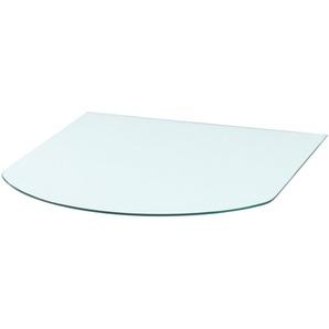 Glasbodenplatte »Halbrundbogen«, für Kaminöfen, 85 x 110 cm, Milchglas