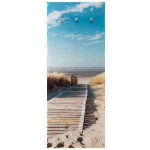 Glasgarderobe mit Urlaubsmotiv, 50 x 125 cm